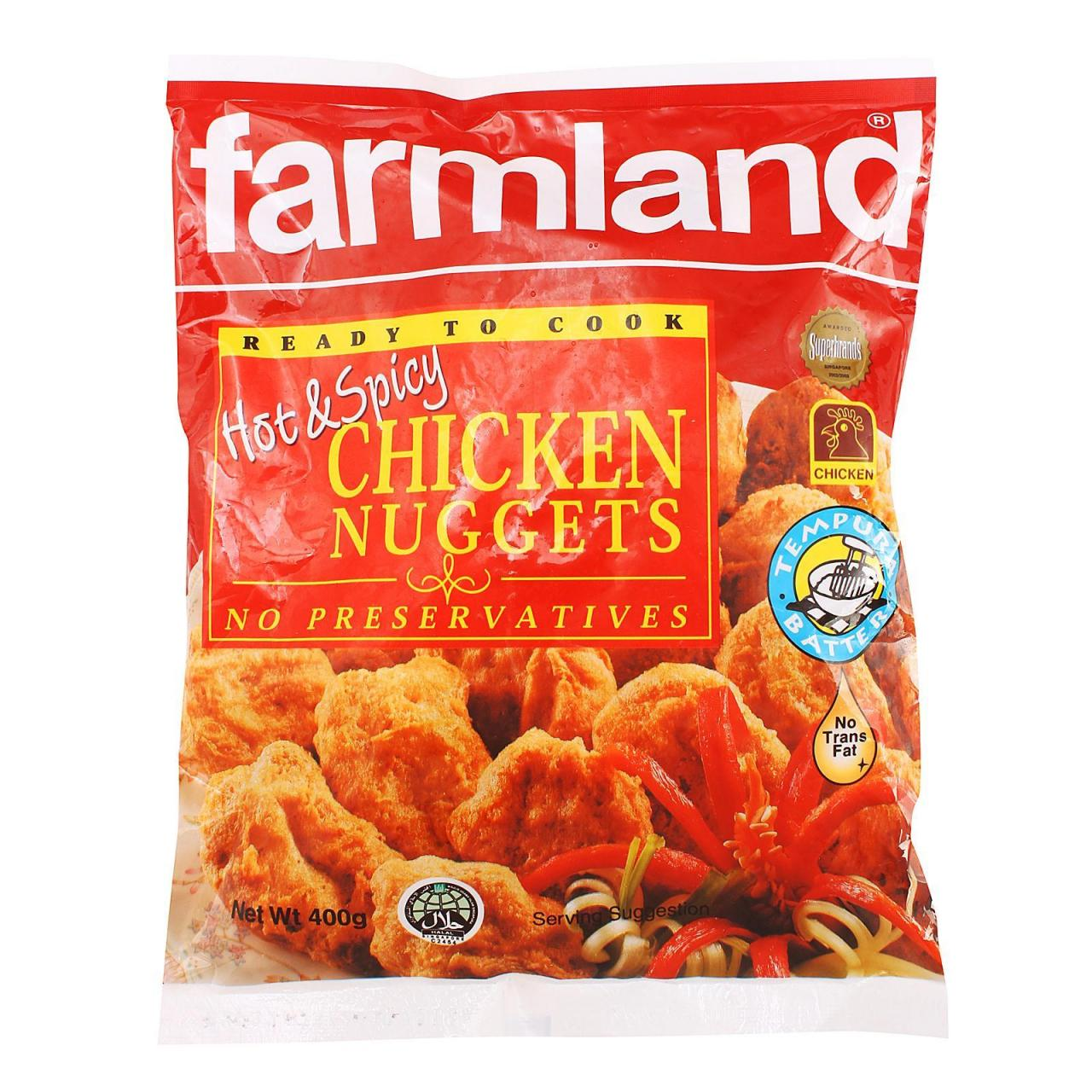 Buy cheap Chilled Item Farmland Chicken Nuggets Hot & Spicy Ben Foods 24x400g from wholesalers