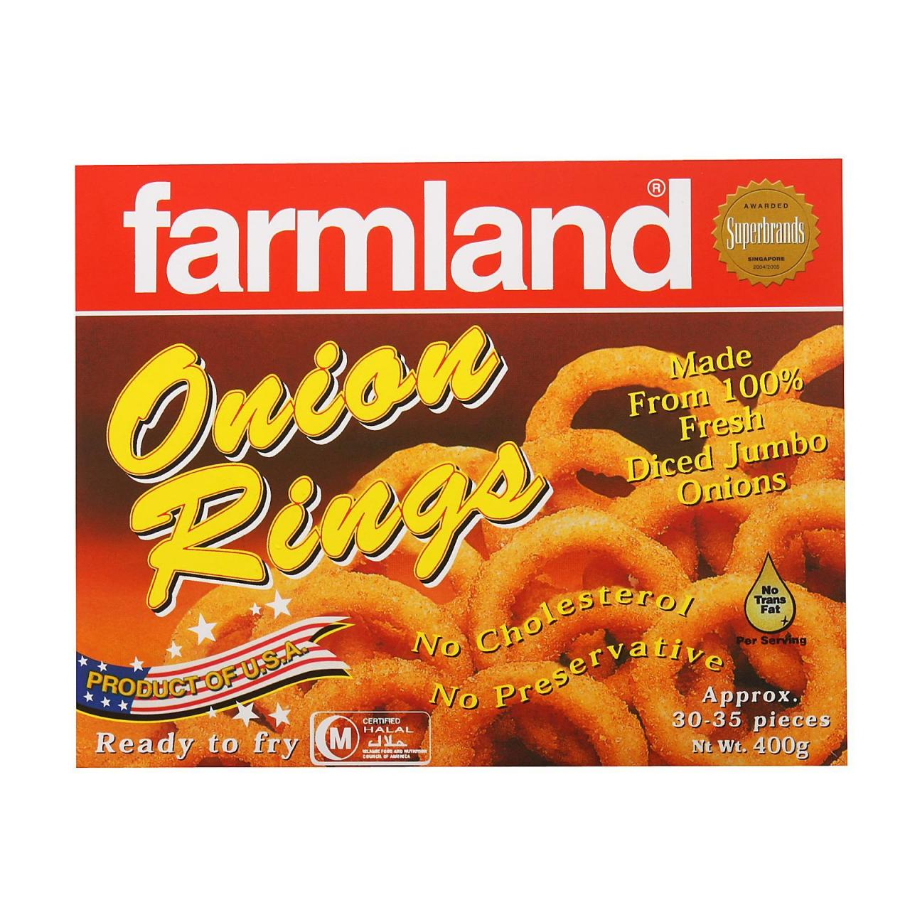Buy cheap Chilled Item Farmland Onion Rings 12x400g from wholesalers