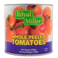 Buy cheap Canned Vegetables Tomato Whole Peeled - Royal Miller 6x2550g product
