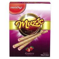Buy cheap Biscuits Muzic Luxury Strawberry Wafer Stick -12X100G from wholesalers