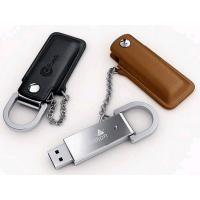 Buy cheap Custom leather keychain usb stick promotion usb flash drive from wholesalers
