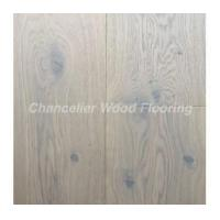 Buy cheap Grey lacquered engineered oak wooden flooring from wholesalers