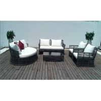 Buy cheap 5pcs Rattan Sofa Set Garden Rattan Furniture Set With Round Sunlounger Used Outdoor Comfortable Sofa from wholesalers