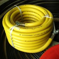 Buy cheap 50′ Length Yellow Jackhammer Rubber Air Hose with 3/4 Universal (Chicago) Couplings from wholesalers