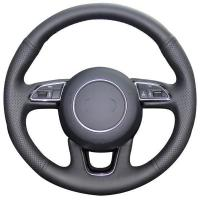 Buy cheap Custom Leather Steering Wheel Covers For Audi A1 A3 A5 A7 A4L Series from wholesalers