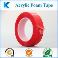 Buy cheap Red resealed liner VHB strong bond double sided acrylic foam tape for Auto and building industries from wholesalers