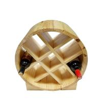 Buy cheap special wine barrel design round wine rack from wholesalers