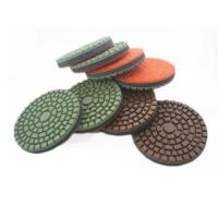 Buy cheap Diamond Resin Bond Floor Polishing Pads With Rubber Pad In The Center DMY-20 from wholesalers