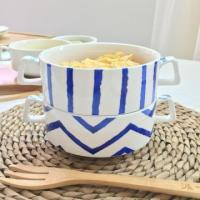 Buy cheap Porcelain Soup Bowl with Two Handles Baby Dessert Bowl from wholesalers