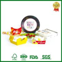 Disposable Cardboard Lunch Paper Box with Department for Food Packing