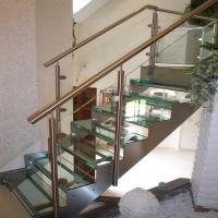 Buy cheap use interior stairs designs indoor laminated glass from wholesalers