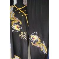 martial arts uniform with yellow dragons
