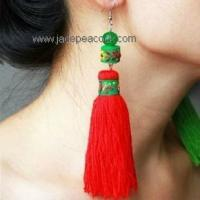 Buy cheap JPJ-808 Earring fringed coral stone product