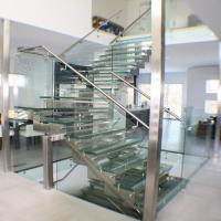 Buy cheap Elegant Laminated Glass Stair Staircase design from wholesalers