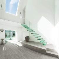 Buy cheap Glass balustrade railing invisible steel stringer floating stairs from wholesalers