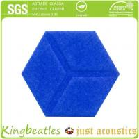 Buy cheap Eco-friendly Customized Embossed PET Acoustic Panel Polyester Fiber product