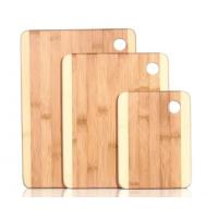 Buy cheap Set of 3 Chopping Boards, Two Toned Bamboo Wooden Cutting Board Set with Round Handle from wholesalers
