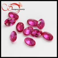 Buy cheap synthetic 4x6mm oval ruby stone rough corundum ruby for wholesale from wholesalers