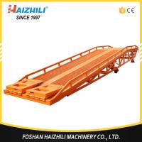 Buy cheap Material handing equipment 10 ton mobile hydraulic loading ramp for forklift from wholesalers