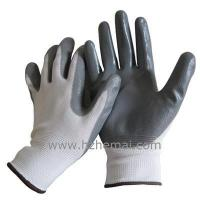 Buy cheap HNN333 grey Nitrile coated glove 13 gauge nylon/polyester liner from wholesalers