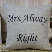 Buy cheap Fashion Design Lettering Printed Linen Pillows CL-020 from wholesalers