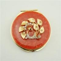 Buy cheap Exquisite flower accessories enamel pocket mirror from wholesalers