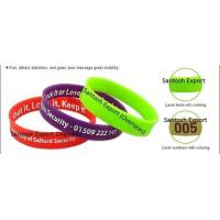Buy cheap Customized Silicone Wristband from wholesalers