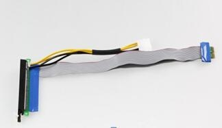 Quality 1x to 16x pcie riser cable with molex power for sale