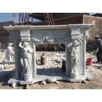 Buy cheap White Marble electric fireplace mantel from wholesalers