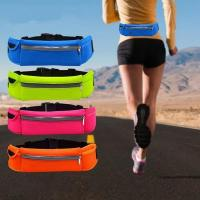 Buy cheap Popular Exercise Fanny Pack Runner Safety Reflective Waist Bag with Pockets and Earphone Port from wholesalers