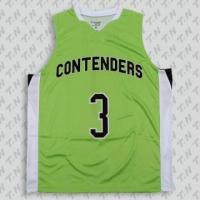 Buy cheap new style green eyelet fabric basketball jerseys from wholesalers