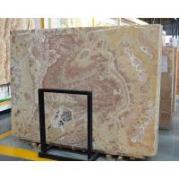 Buy cheap Luxury chrysanthemum yellow onyx marble slab from wholesalers