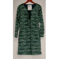 Buy cheap Christos Dress S Long Sleeve Lace-Up Space dyed Green NEW from wholesalers