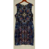 Buy cheap Charter Club Plus Size Dress 3X Printed Sleeveless Blue NEW from wholesalers