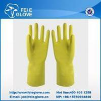 Buy cheap dip and spray flock lined household latex gloves from wholesalers