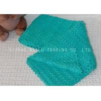 Buy cheap Fan Pattern Green Handmade Crochet Blankets For Baby Boy , Knitted Baby Blankets from wholesalers