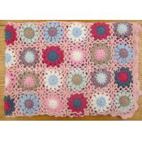 Buy cheap Twill Pastoral Crochet Baby Girl Blanket Hollow Out Double Sided Baby Crochet Blankets from wholesalers