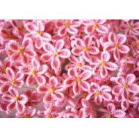 Buy cheap 3.5cm Lilac Shape Pink Crochet Clothing Appliques Embellishments With 5 Petals from wholesalers