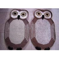 Buy cheap Decoration Crochet Oval Rag Rug Anti - Slip Crochet Owl Rug 85cm x 55cm from wholesalers