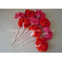 Buy cheap Garden Decoration Crochet Carnation Flower Red And Pink Acrylic Cockscomb Shape from wholesalers