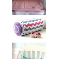 Buy cheap Cylinder shape ripple pattern hand crochet cushion cover pillows from wholesalers