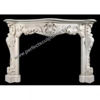 Buy cheap Marble Fireplace Mantel for Stone Fireplace Mantles (QY-LS372) from wholesalers