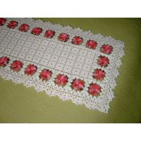 Buy cheap Hand crochet White blanket Red flowers from wholesalers