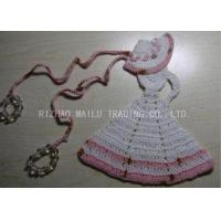 Buy cheap Crochet Christmas Tree Skirt White Dress Cloche Hat With Pink Trimming And Beads from wholesalers