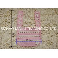 Buy cheap Comfortable Hand Crochet Baby Bib With Lovely Flower , Ink And Offwhite from wholesalers