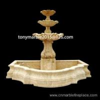 Buy cheap Three Level Beige Marble Sculpture Fountain (SY-F012) from wholesalers