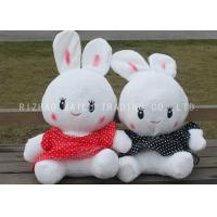 Buy cheap White Stuffed Rabbit Toy Lace Red And Black Spotted Dress Rabbit Plush Toys from wholesalers
