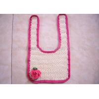 Buy cheap Comfortable Crochet Baby Items , Red Rose Creme Crochet Handmade Baby Bibs from wholesalers