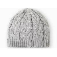 Buy cheap Gray Crochet Winter Hat Curling Pattern , Knitted Crochet Warm Hat For Girls from wholesalers