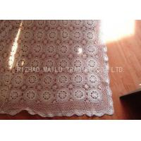 Buy cheap Floral And Stars Pattern Crochet Table Cover Twill Style Round Floral Shape from wholesalers
